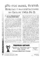 No nos mires, únete: Huelgas y manifestaciones 1962-1976 (I)